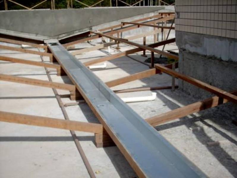Calha de Alumínio para Telhado Residencial Burato - Calha de Chuva Zinco