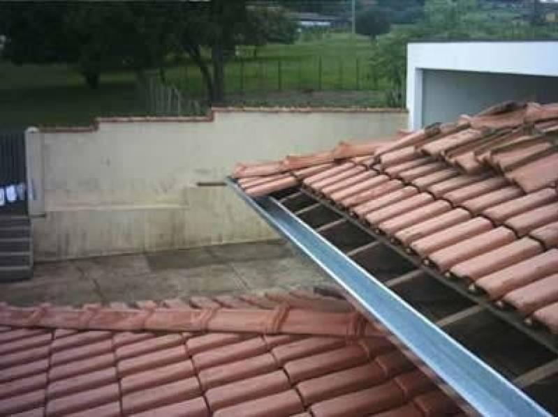 Calha Galvanizada para Telhado Jardim Miriam - Calha de Alumínio para Telhado
