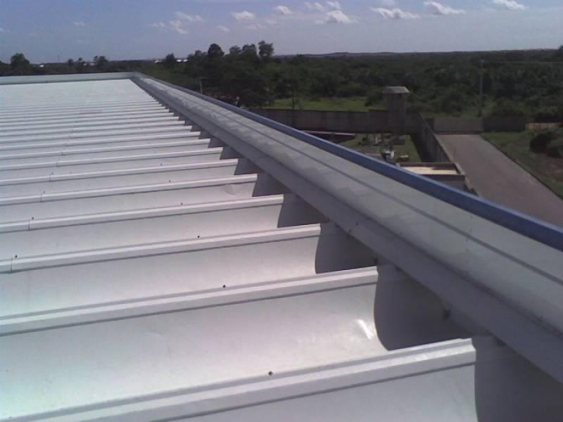 Calha para Telhado de Alumínio Jardim Rossin - Calha de Alumínio para Galpão Industrial