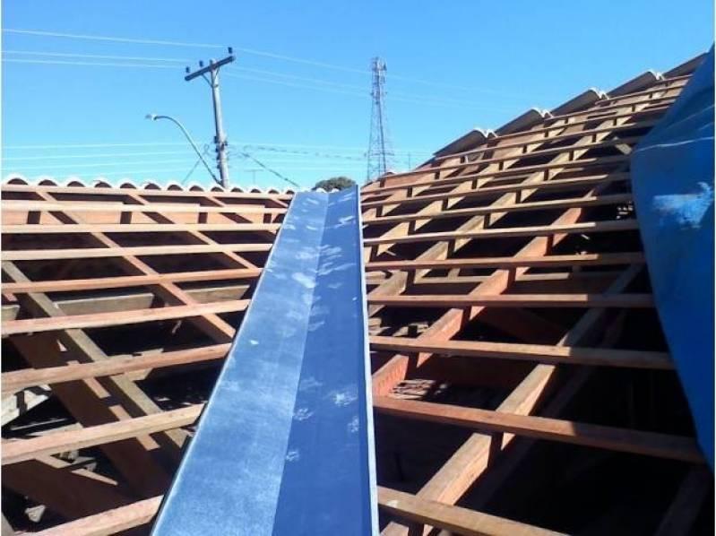Calhas de Zinco para Telhados Residencial Colina das Nascentes - Calha Industrial