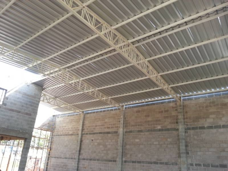 Cobertura Metálica para Construção Civil Preço Jardim Flamboyant - Cobertura Metálica com Policarbonato