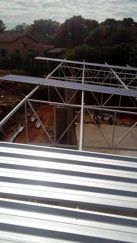 Coberturas Metálicas para Construção Civil Parque Rio das Pedras - Cobertura Metálica