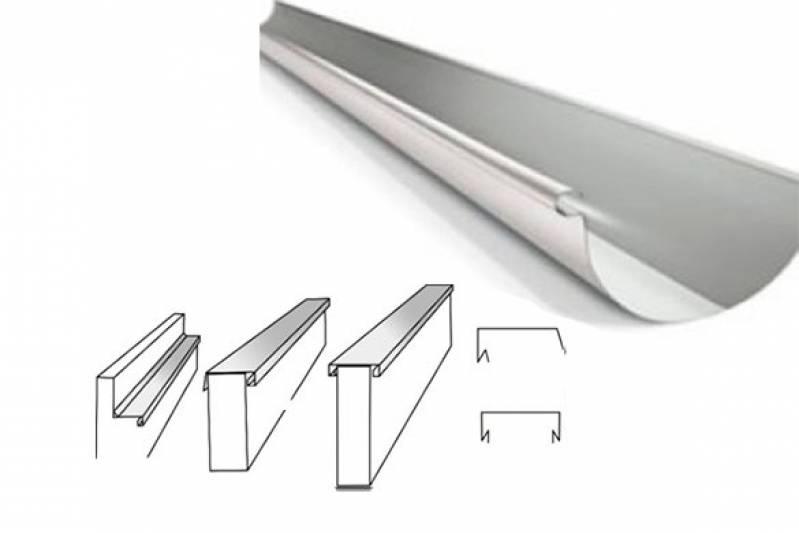 Instalação de Calha de Zinco Jardim Novo - Calha para Telhado de Alumínio