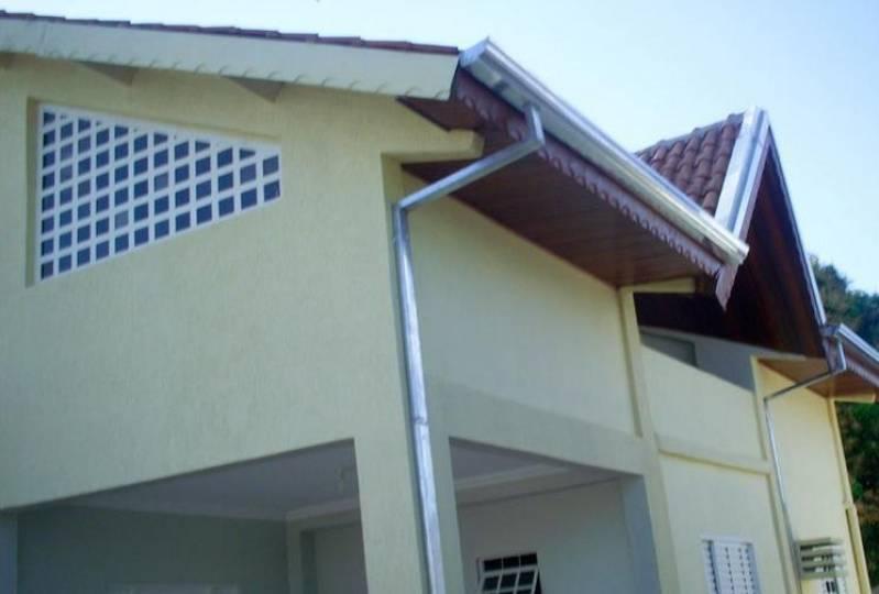 Instalação de Calha Galvanizada para Telhado Jardim Bela Vista - Calha em Alumínio