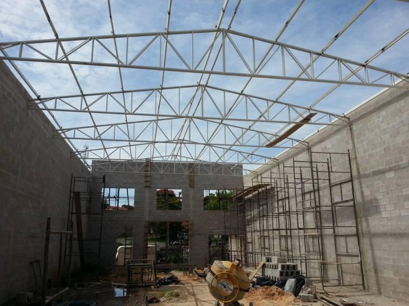 Instalação de Cobertura Metálica para Construção Civil Santa Maria - Cobertura Metálica