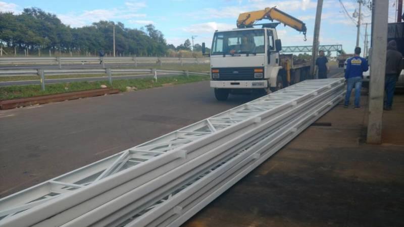 Instalação de Estrutura Metálica para Galpão Industrial Jardim Atibaia - Estrutura Metálica para Edifícios
