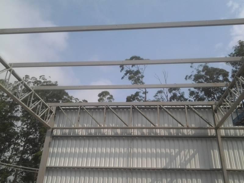 Instalação de Estrutura Metálica para Indústria Vila Ana Luíza - Estrutura Metálica para Construtora