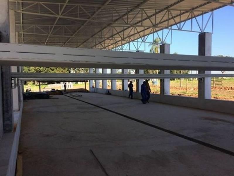 Instalação de Estrutura Metálica para Mezanino Sitio dos Cambáras - Estrutura Metálica para Construtora