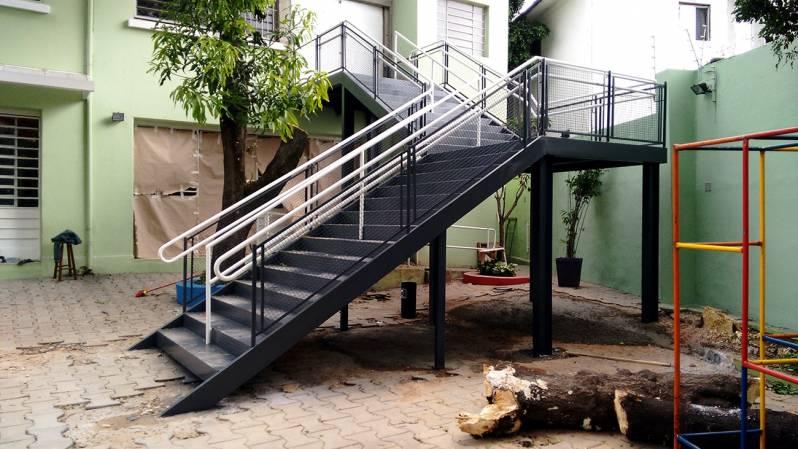 Quanto Custa Escada de Aço Industrial Jardim Sul-América - Escada de Aço Industrial