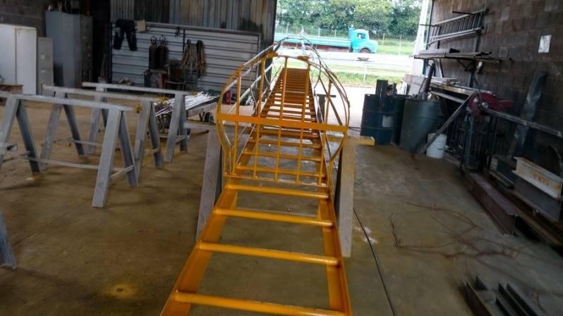 Quanto Custa Escada Padrão Bombeiro Vila São José - Escada Helicoidal Industrial