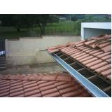 calha de zinco para telhado Santa Maria