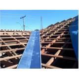calha de zinco para telhado