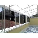 cobertura metálica com policarbonato Jardim Florence