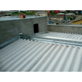 instalação de calha de alumínio para galpão industrial Proença