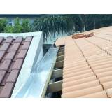 manutenção de calha de alumínio para telhado Fazenda Iracema