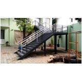 quanto custa escada de aço industrial Jardim Madalena